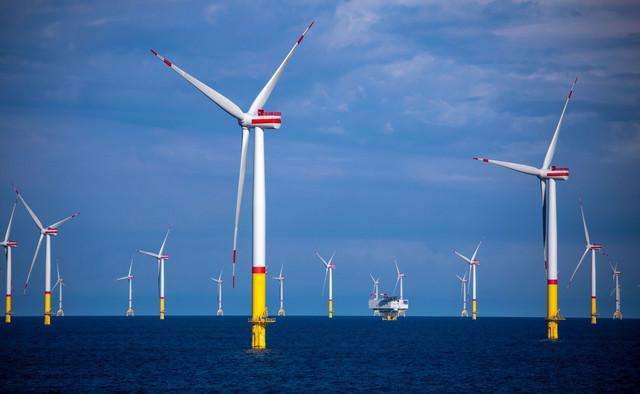 Farma vetrenjača u Baltičkom moru kod obale Danske