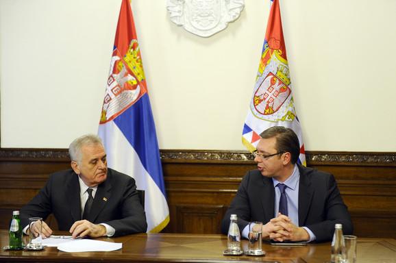 Tomislav Nikolić i Aleksandar Vučić