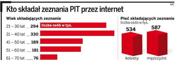 Kto składał zeznania PIT przez internet