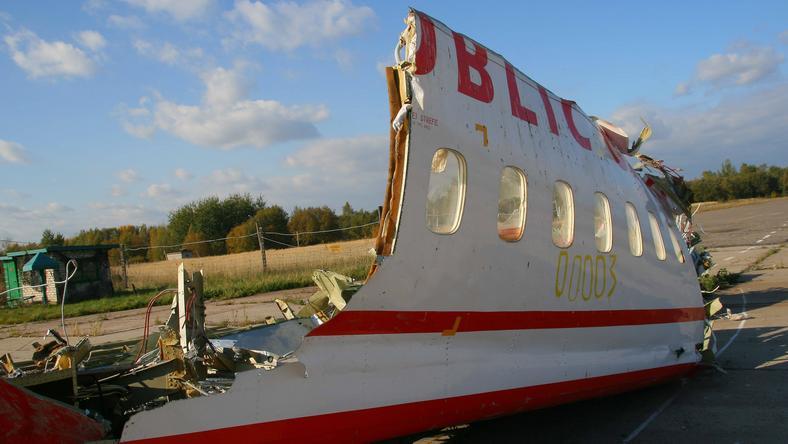 Fragment wraku Tu-154