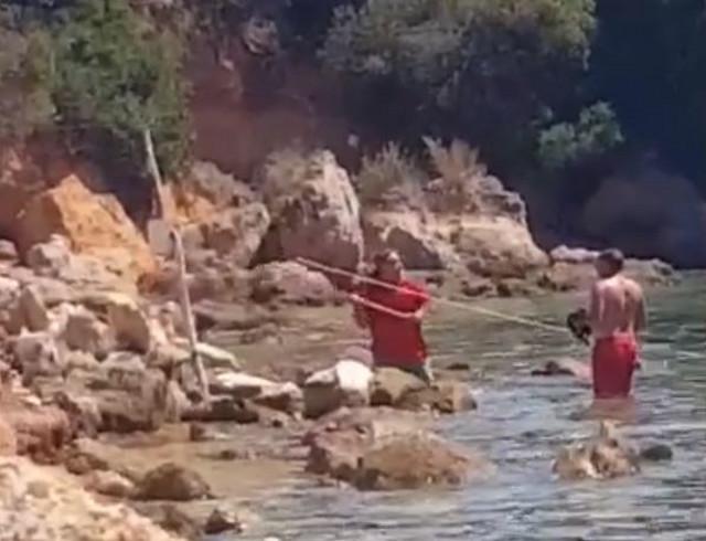 """Nenad napada turistu koji je """"upao"""" na njegov deo plaže"""