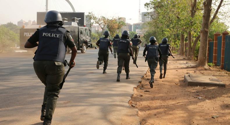 Nigerian Police officers on duty (Illustraton - NewDawnNigeria)