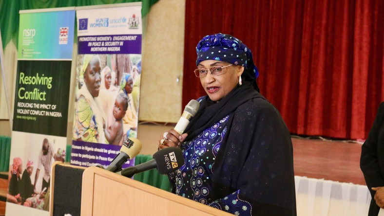 Former Minister of Women Affairs, Aisha Alhassan (Daily post)