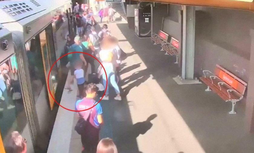 Makabryczny wypadek 4-latka na peronie. WIDEO