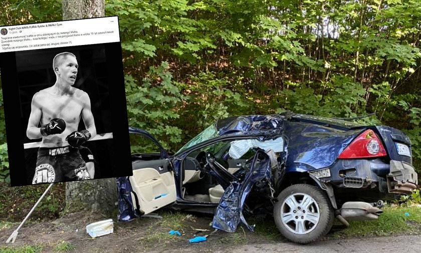 Tragedia pod Lęborkiem. Nie żyje 19-letni zawodnik MMA. Jego kolega walczy o życie
