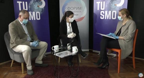 Profesor doktor Lidija Kandolf Sekulović, dermatovenerolog VMA i doktor Goran Stojanović, onkolog na Institutu za plućne bolesti Vojvodina