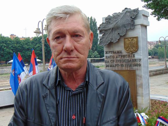Dragan Đorđevic koji je ranjen u bombardovanju kasetnim bombama 1999.