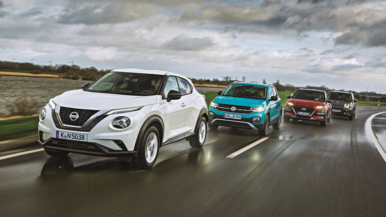 Nissan Juke, VW T-Cross, Hyundai Kona i Jeep Renegade
