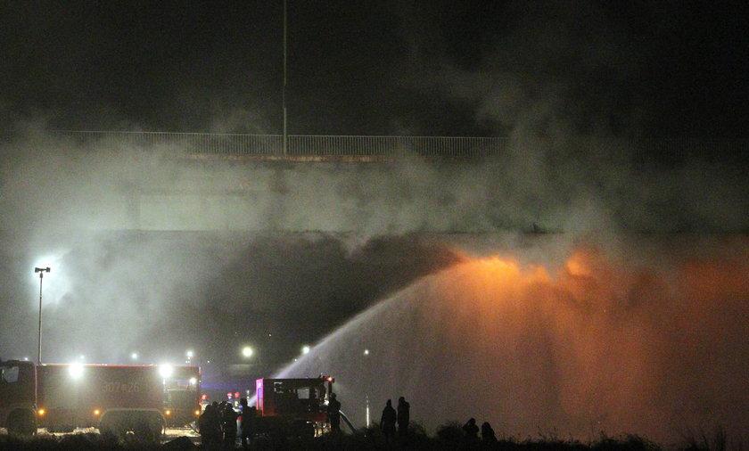 Pożar mostu