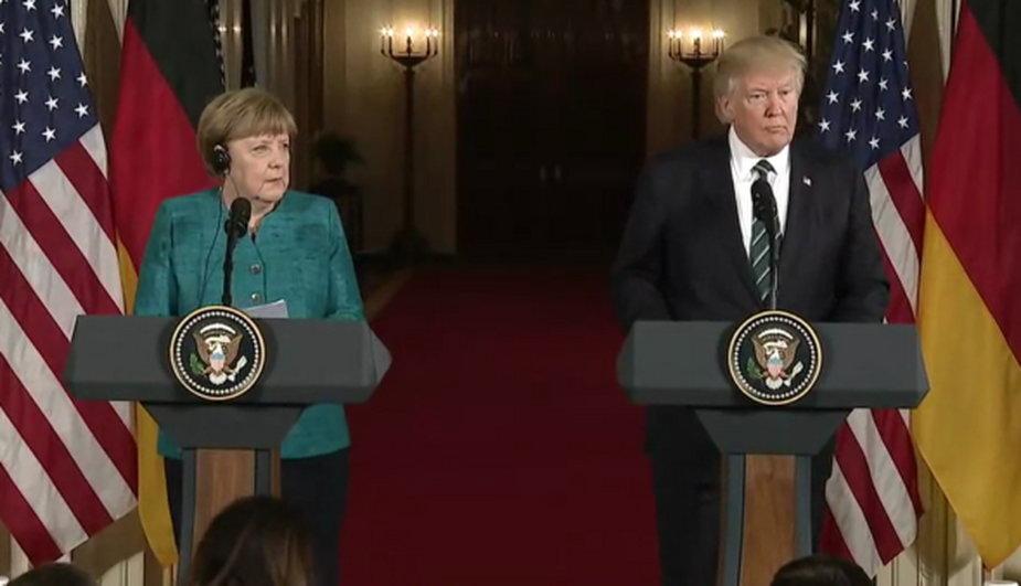 Angela Merkel i Donald Trump. Fot.: Wikimedia Commons
