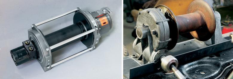 Na rynku dostępne są też wyciągarki hydrauliczne (po lewej) i mechaniczne (po prawej), które wymagają innego przeprowadzenia montażu.