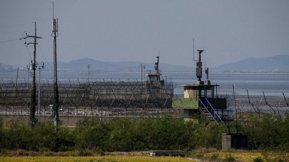Granica pomiędzy Koreą Południową i Koreą Północną