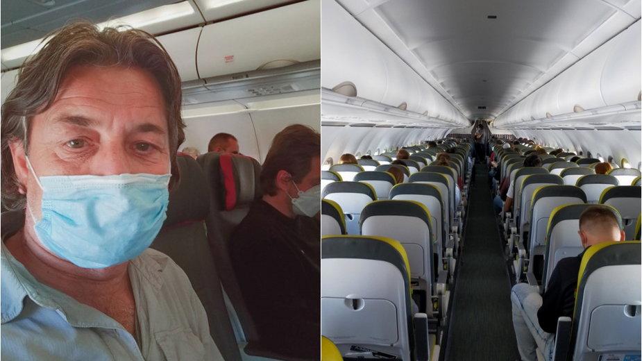 Koronawirus, lot samolotem do Lizbony