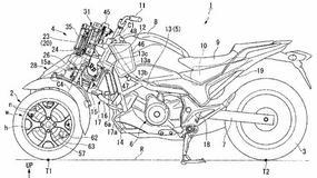 Honda opatentowała trójkołowy motocykl