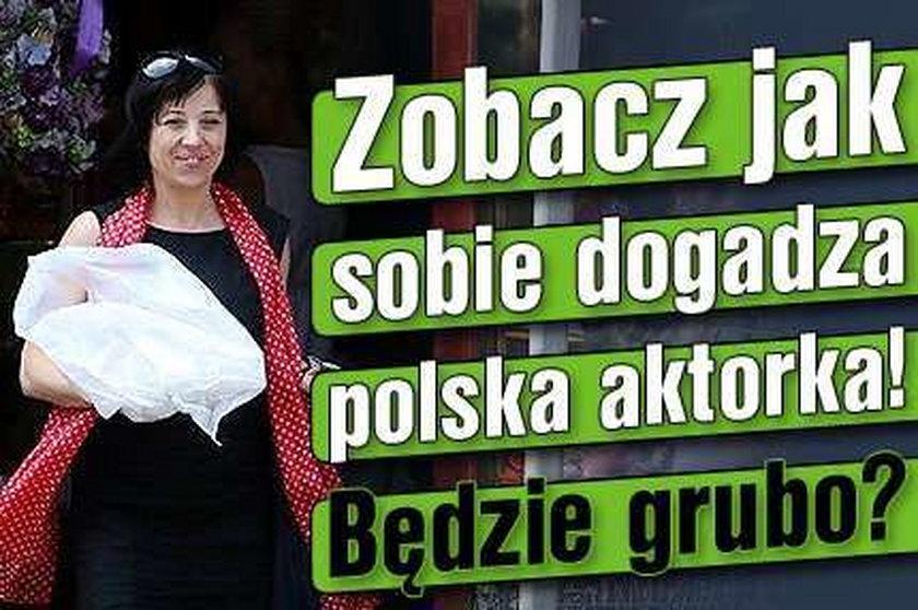 Zobacz jak sobie dogadza polska aktorka! Będzie grubo?