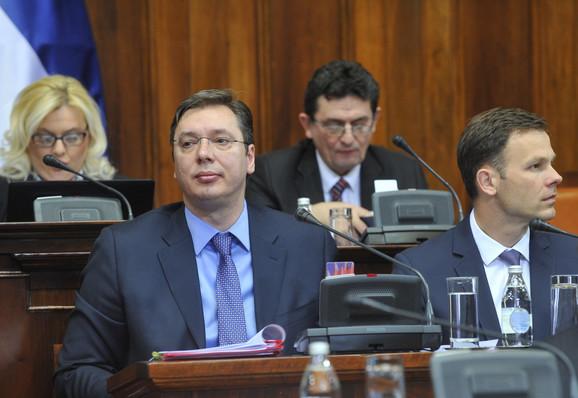 Aleksandar Vučić danas u SkupštiniSrbije