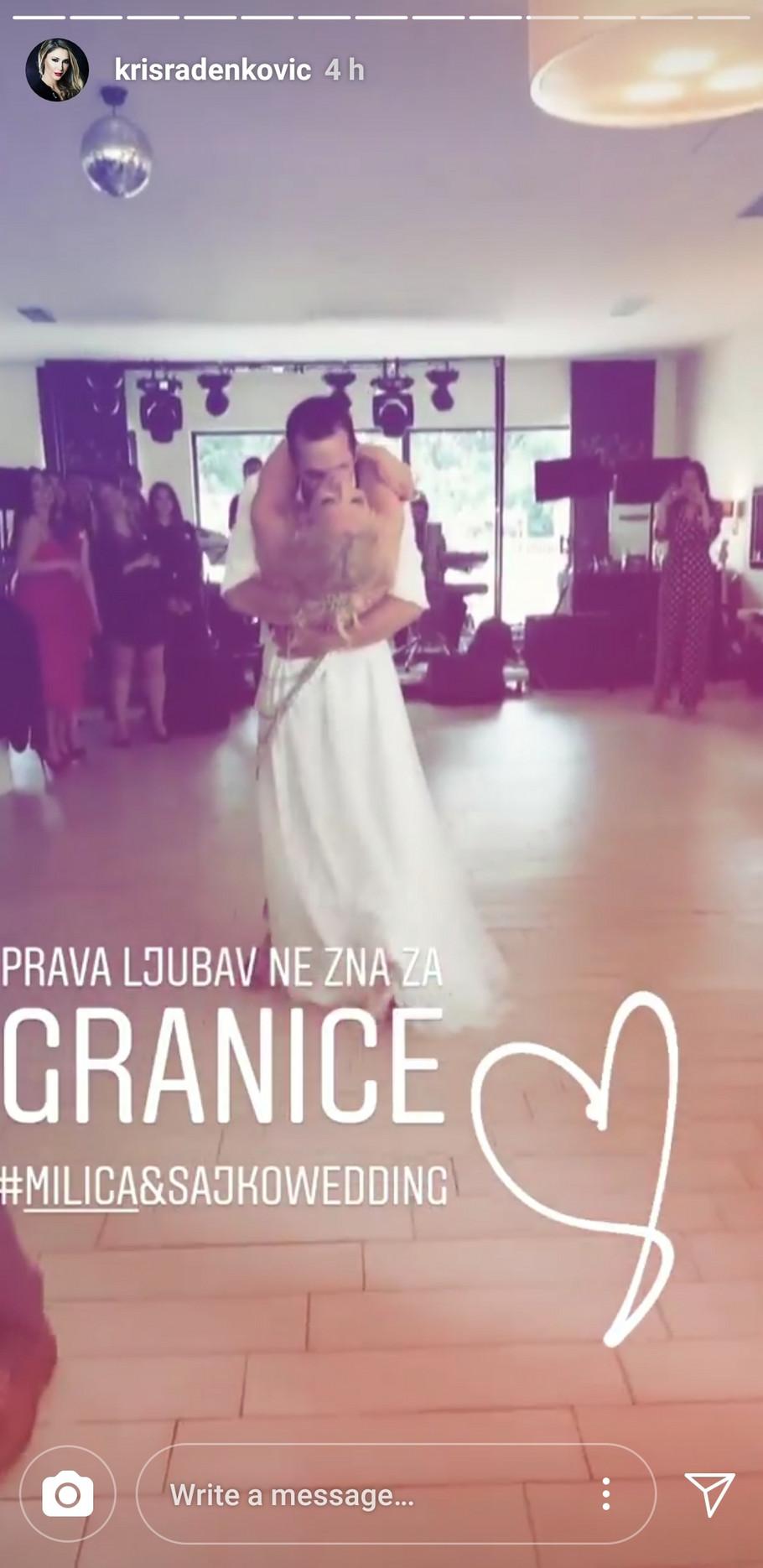 Nikola Sarić Sajko i Milica Cerović prvi svadbeni ples