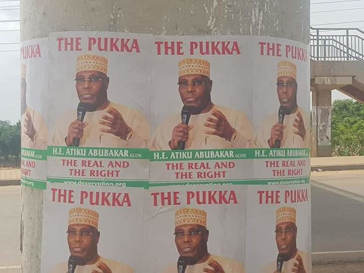 Atiku posters in FCT 2(NAN Photos)