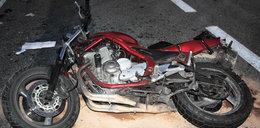 Wypadek na Podlasiu. Ranny motocyklista