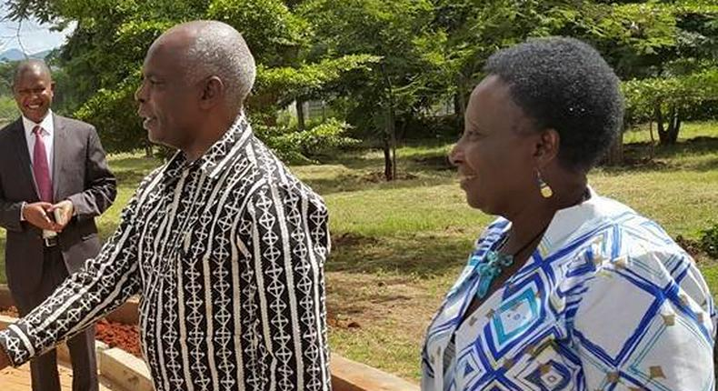 Governor Kivutha Kibwana and DG Adelina Mwau