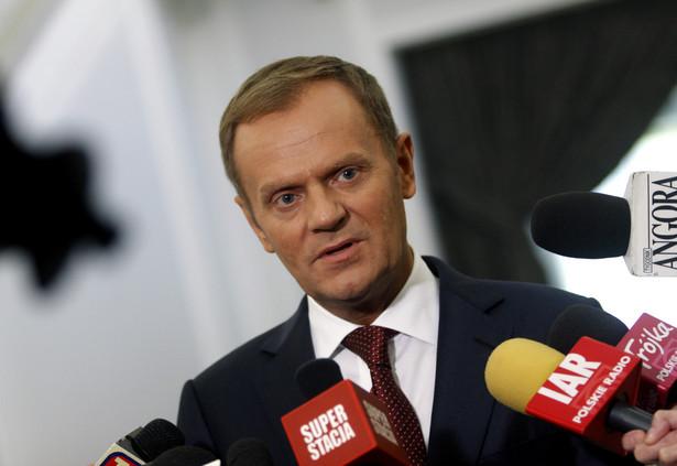 Premier Donald Tusk zapowiedział w piątek w Sejmie realizację do 2020 roku inwestycji w bezpieczeństwo energetyczne Polski o wartości 60 mld złotych.