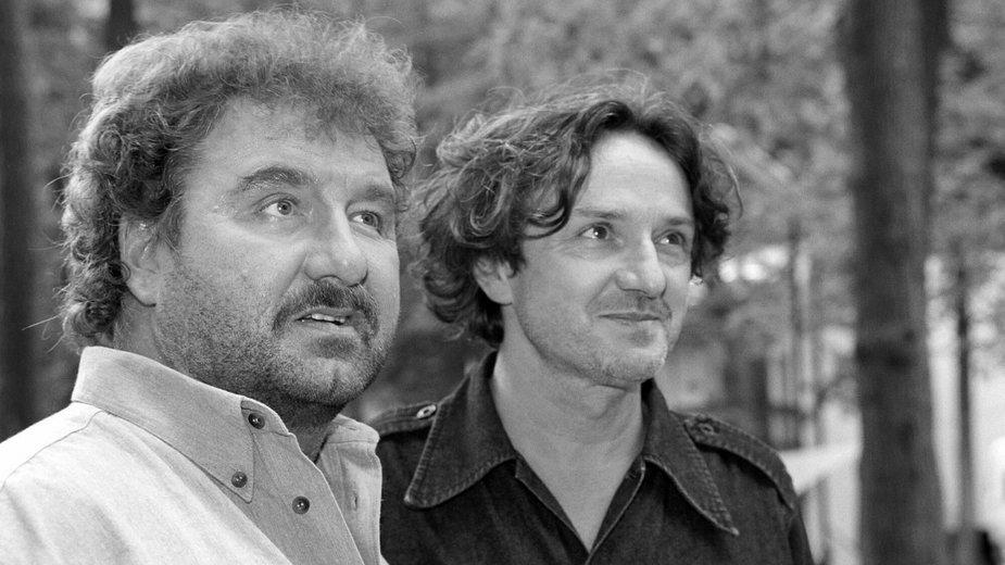 Krzysztof Krawczyk i Goran Bregović w 2001 r.