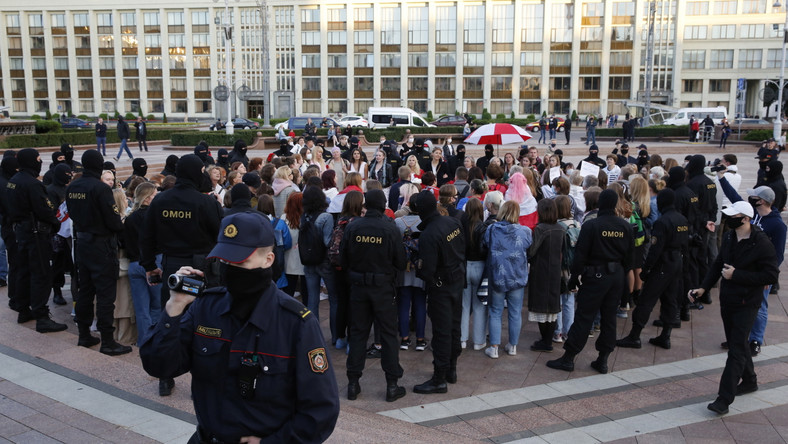 Białoruś Mińsk protest