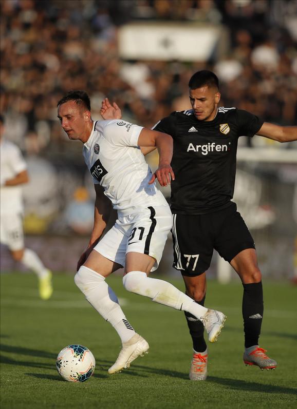 Bojan Matić na meču FK Partizan - Čukarički