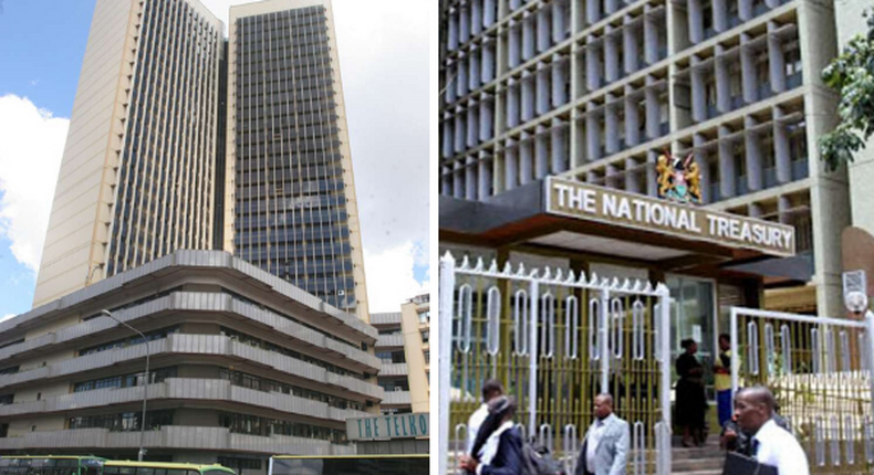 Teleposta Towers, headquarters of the Ministry of ICT and the National Treasury which have reported Covid-19 among staff members