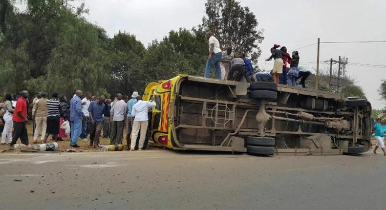 Matatu involved in accident