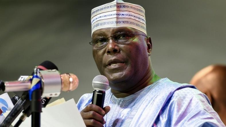 Former Vice-President and Peoples Democratic Party (PDP) presidential candidate, Atiku Abubakar making a speech
