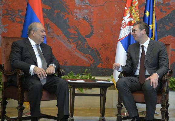 Vučić i predsednik Jermenije