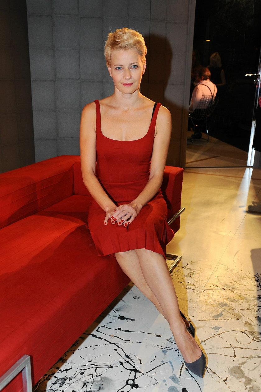 Małgorzata Kożuchowska w czerwonej sukience