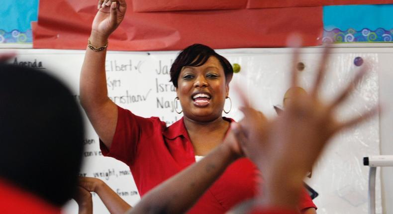 Louisiana hand raise teacher