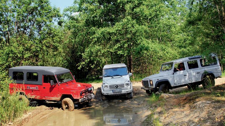 Mercedes G 350 kontra Land Rover Defender i Honker 2000: czy prawdziwe terenówki są na wymarciu?