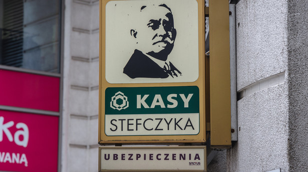 Logo na placówce SKOK Kasa Stefczyka