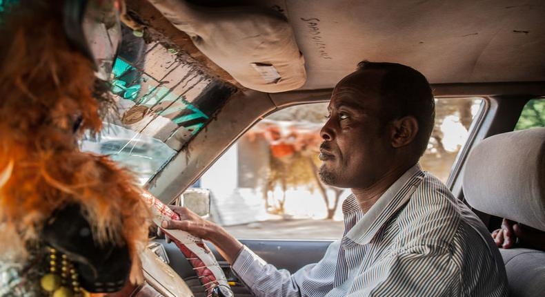 A Taxi driver in hargeisa, Somaliland