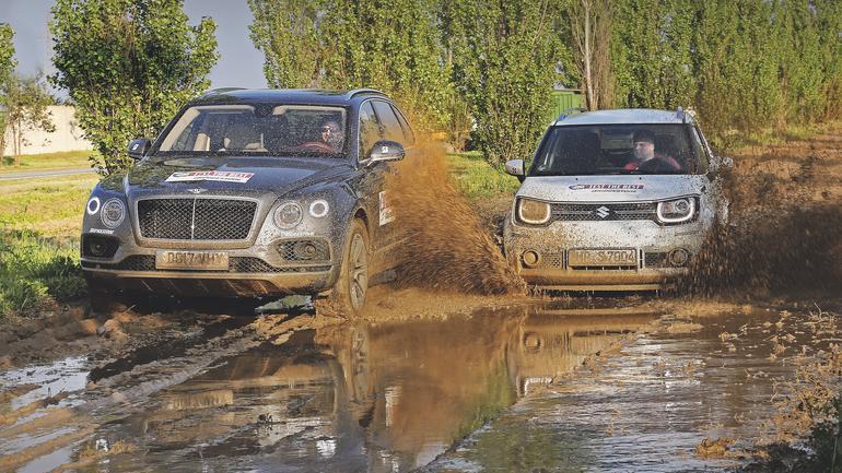 Pojedynek przeciwności: Bentley Bentayga kontra Suzuki Ignis