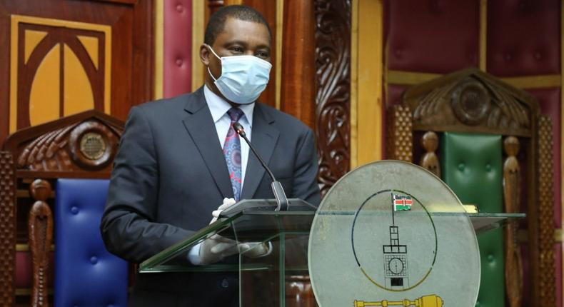 National Assembly Speaker Justin Muturi during the swearing-in of Rachael Ameso Amolo to the Parliamentary Service Commission