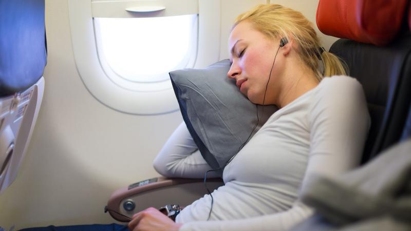 Podczas startu i lądowania lepiej nie spać