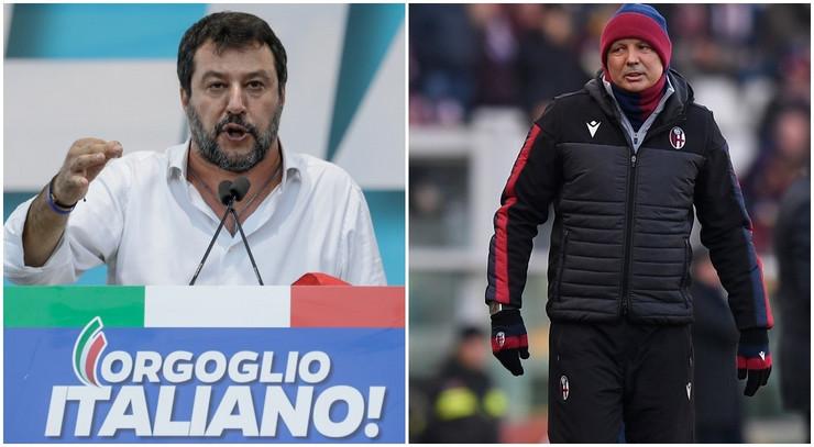 Mateo Salvini i Siniša Mihajlović