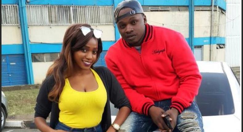 Khaligraph Jones and Miss Cashy. Jones has addressed break up rumours
