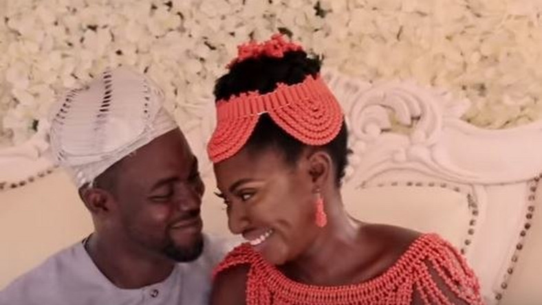 Yvonne Jegede and Abounce on their wedding day