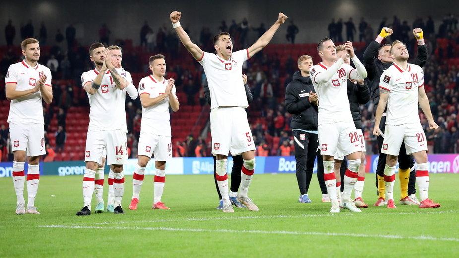Piłkarze reprezentacji Polski po meczu eliminacyjnym mistrzostw świata z Albanią