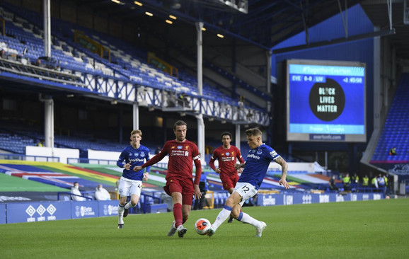 Detalj sa meča Everton - Liverpul