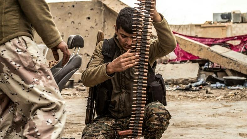 The Kurdish-led Syrian Democratic Forces are trying to pound the last remaining jihadists into surrender