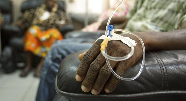 File image of a Kenyan cancer patient undergoing chemotherapy