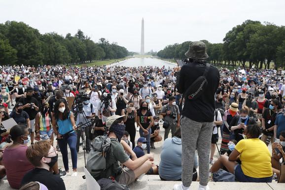 Vašington, protest, SAD, Flojd