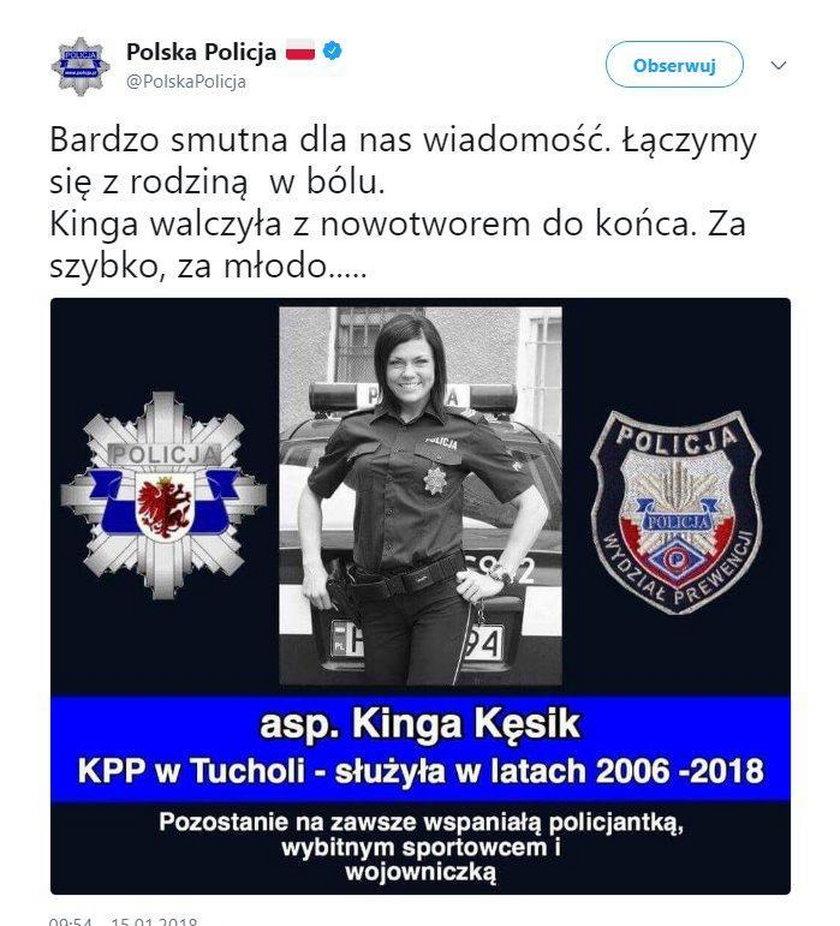 Nie żyje Kinga Kęsik, policjantka i mistrzyni fitness