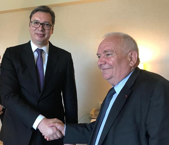 Aleksandar Vučić i Dzosef Dol, predsednik EPP danas u Sofiji